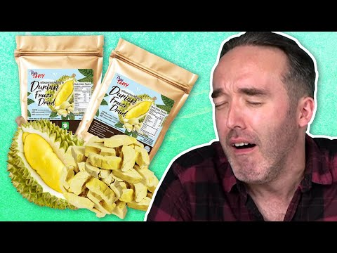 Irish People Try Dried Fruit Chips (Durian Chips!)