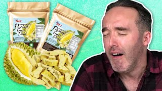 Irish People Try Drİed Fruit Chips (Durian Chips!)