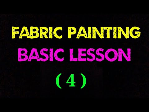 Freehand basic fabric tutorial lesson #4 | fabric tutorial | fabric painting technique