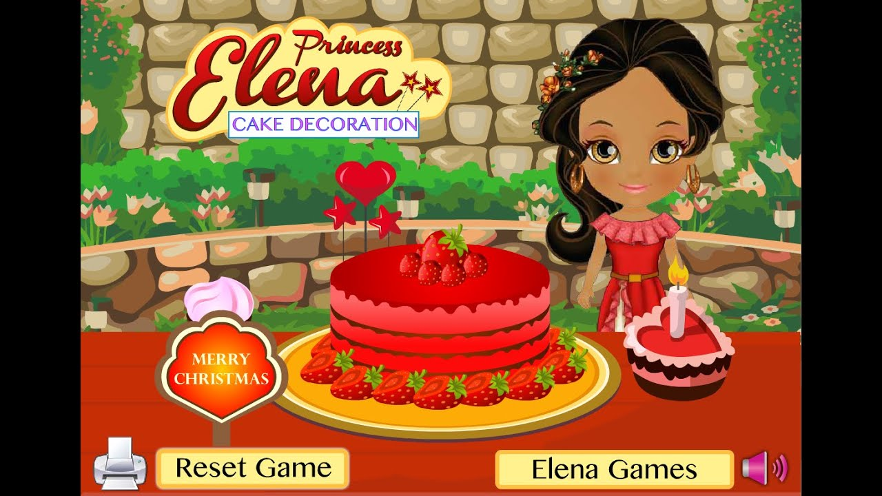 Princess elena beautiful cake decoration game for girls for All decoration games for girls