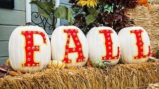 DIY Fall Marquee Pumpkins - Home & Family