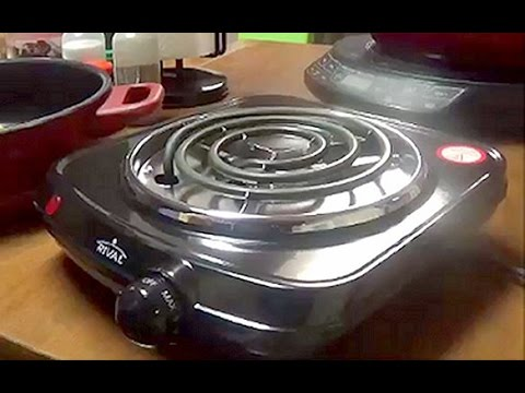Review of Rival's Single Electric Burner or Hot Plate for Handicapped Persons, RV's, Camping Etc.