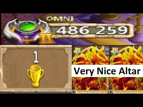 486,000 MIGHT Rank 1 IOS Player Full Altar Review Castle Clash