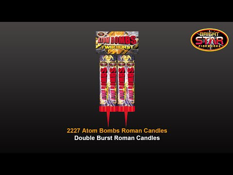 Bright Star Fireworks - 2227 Atom Bombs 1.3G Double Burst Roman Candles
