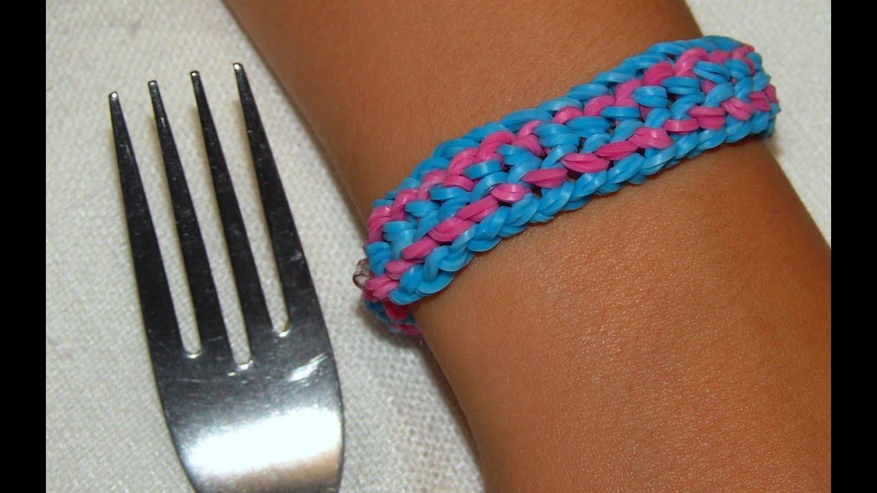 Как сделать резинки для браслетов на вилке 26
