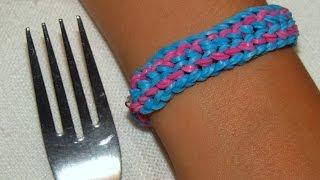 """Как сделать браслет из резинок. Стиль """"компакт"""". Rainbow loom Double twisted dragon scale"""