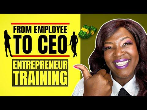 [Entrepreneur Training] Video 1 of 3 Going From Employee to CEO Entrepreneur Training