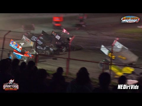 Highlights: Sprint Cars of New England | Bear Ridge Speedway 7 23 2016