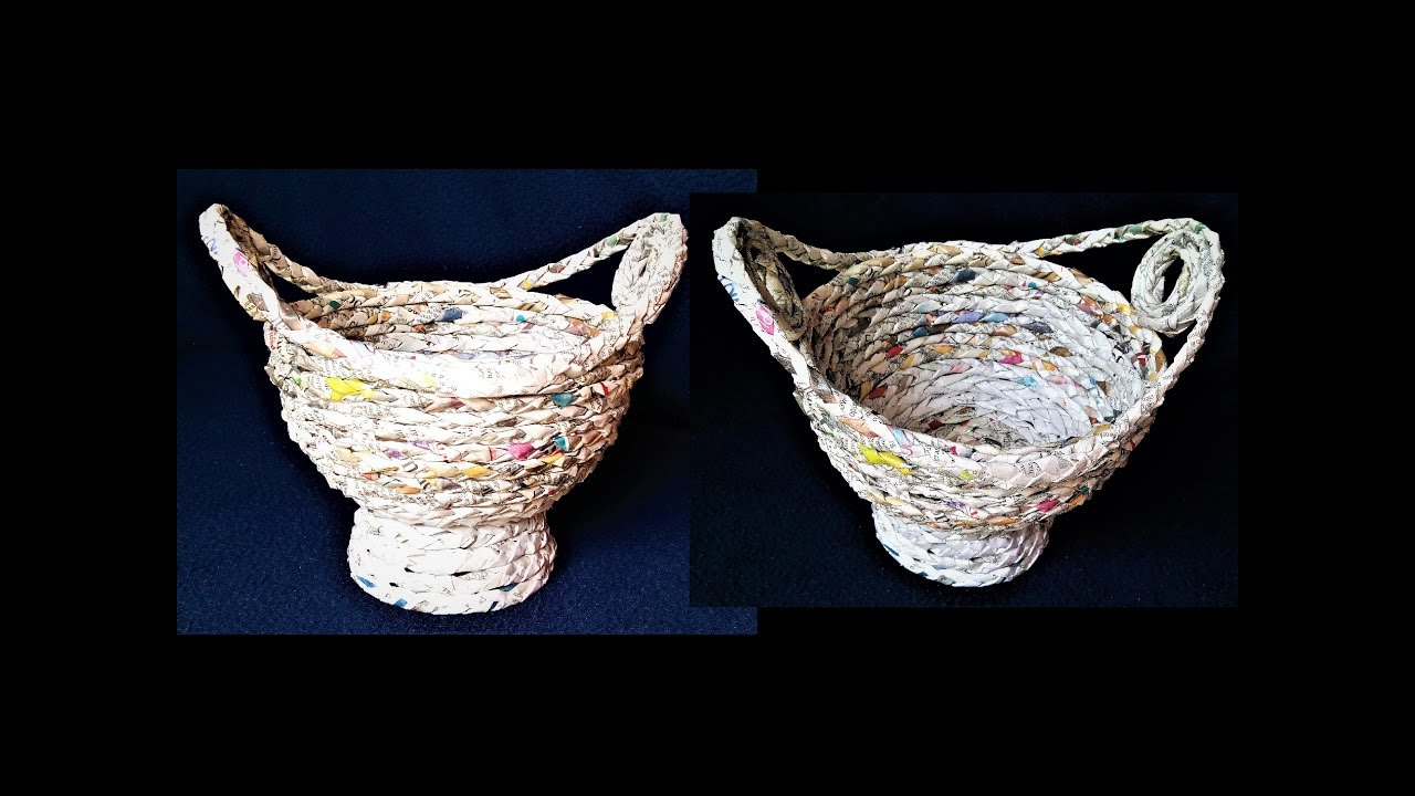 paper basket craft how to make basket from newspaper best out of waste 2608