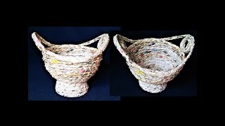 How To Make Basket From Newspaper / Best Out Of Waste / DIY Basket / Paper Basket / Newspaper Craft