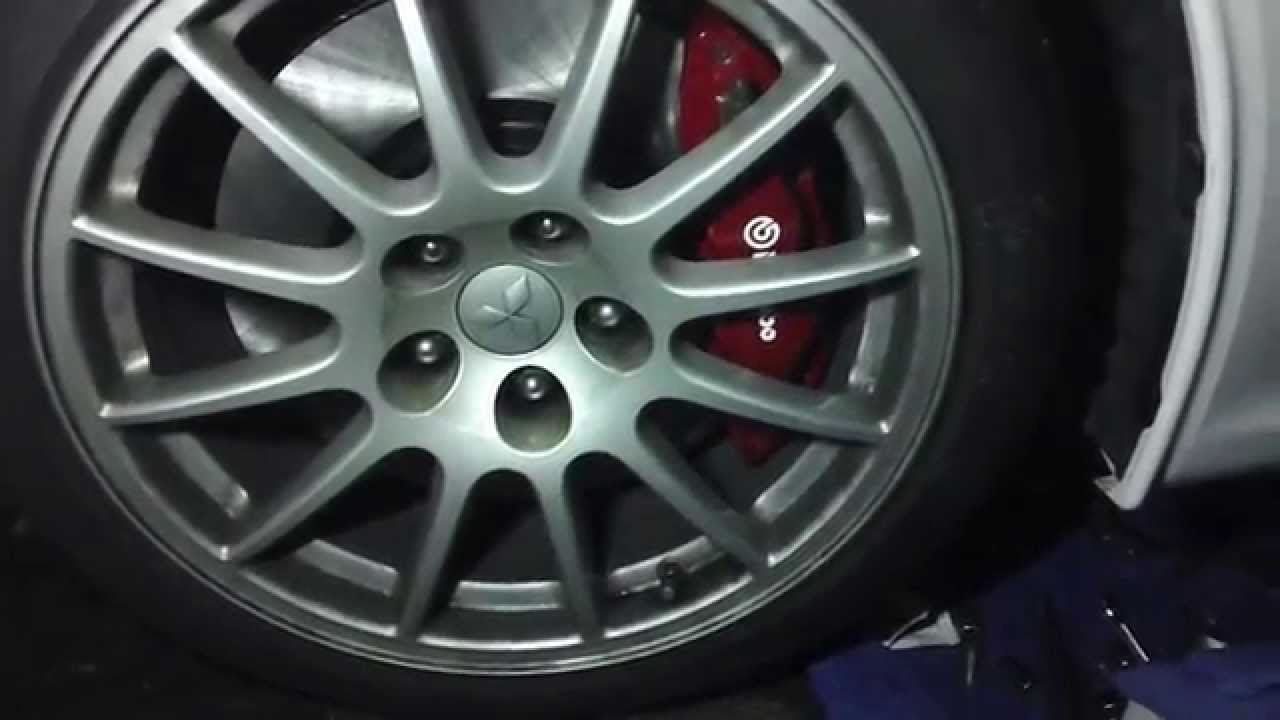Evo X Front Rotor Pads Replacement