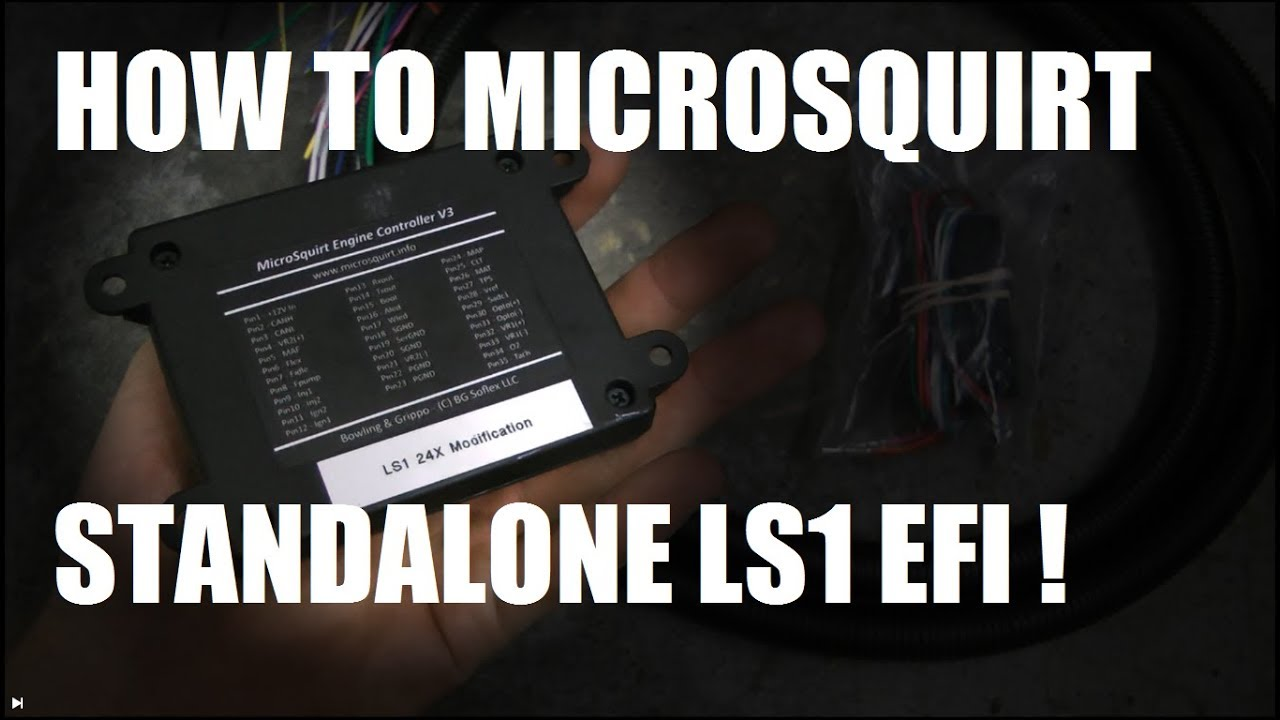 How to Microsquirt Standalone EFI your LS engine! - YouTube