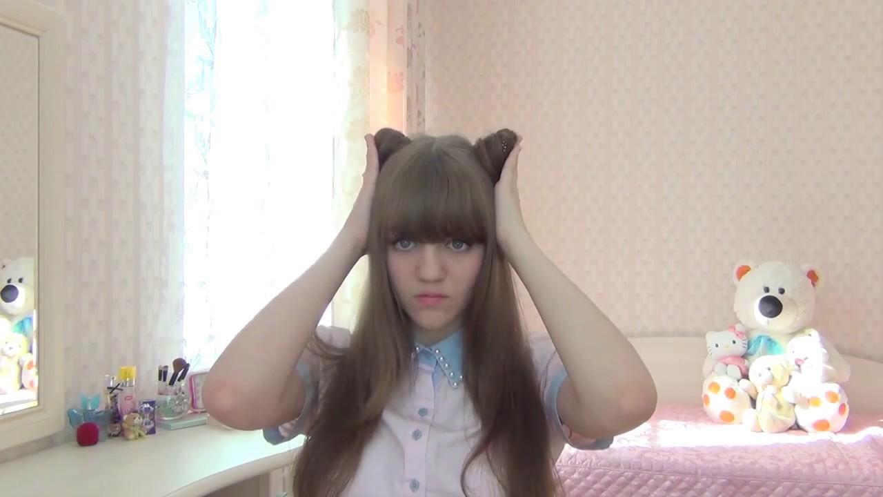 как из волос сделать ушки кошки