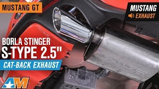 2015 2017 mustang gt borla stinger s type 2 5 cat back exhaust sound clip install