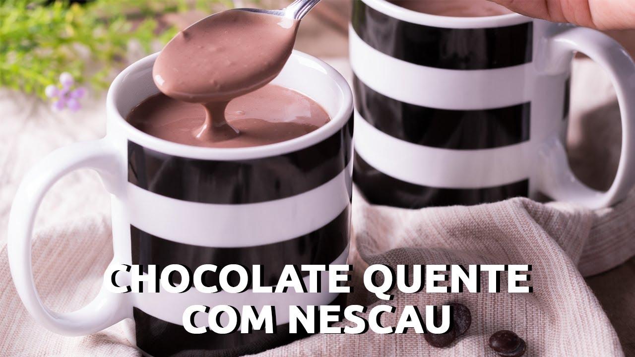 CHOCOLATE QUENTE COM NESCAU | SUPER CREMOSO E MUITO FÁCIL DE FAZER | RECEITAS TÁ NA HORA