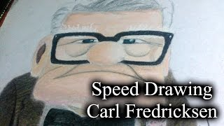 Speed Drawing - Carl Fredricksen | Up | Up: Una aventura de altura