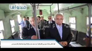 بالفيديو تفقد الدكتور جلال السعيد وزير النقل واللواء احمد ضيف صقر محافظ الغربية لمحطة طنطا لسكك حديد