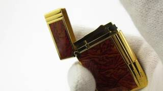 Rare S. T. Dupont Ligne/Line Gatsby Gas Lighter Ping Sound & Presentation from 90's