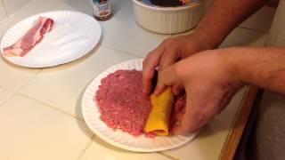 Bacon Cheddar Burger Dog On The Weber Kettle
