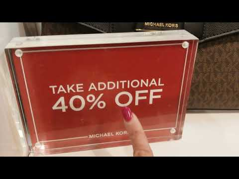 Michael Kors Retail Sale! Take ADDITIONAL 40% Off SALE PRICE! Shop With Me!