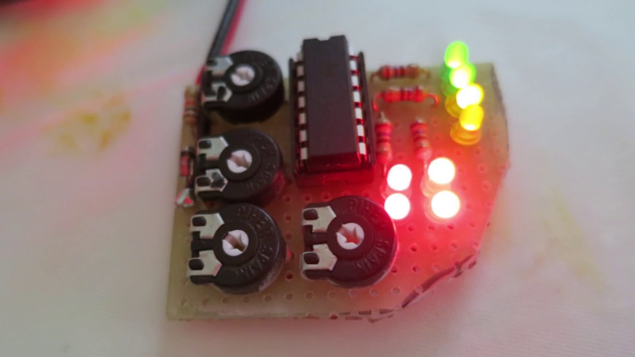 Voltage Indicator Lm324 With Colourful Leds Test Youtube Battery Monitor Circuit By Lm339