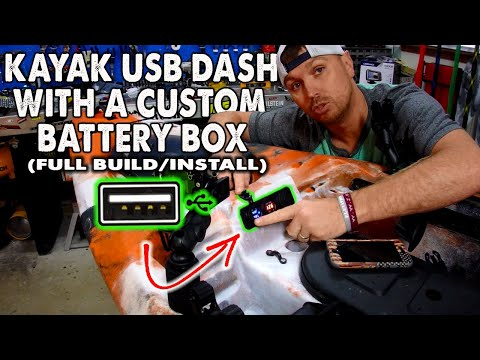 Building a custom kayak battery box with USB ports, CHEAP, D