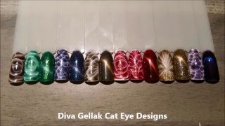 Diva Gellak designs cat eye & chameleon