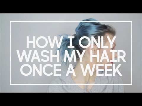 How I Only Wash My Hair Once a Week