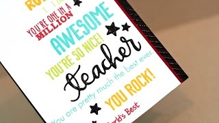 Mixed Sentiment Background - Teacher Cards
