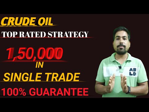 crude oil top rated strategy| 1,50,000 profit at 9.00 pm trade| risk free intraday crude oil trading