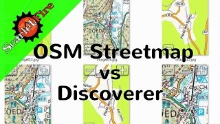 Comparison of OSM Open streetmap and OS Discoverer maps on Garmin GPS.