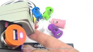 Adaptador cargador USB a mechero coche 1000mA 1A colores varios distribuido por CABLEMATIC ®