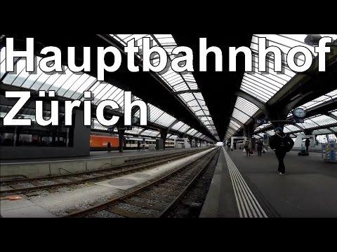 Eindrücke aus dem Hauptbahnhof Zürich / Grösster Bahnhof der Schweiz