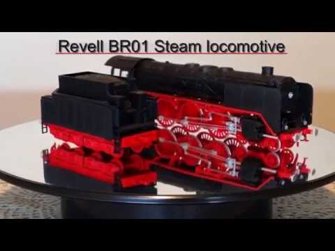 Revell BR01 1/87th scale steam locomotive model kit build and review