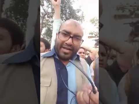 Farhan Yahiya LIVE Syria me Bombari ke khilaf New Delhi me Syria ki embassy k bahar dharna, narebazi