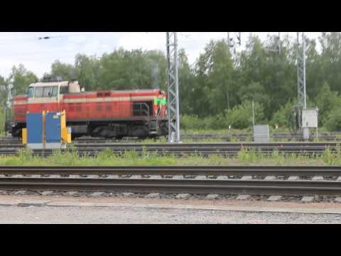 Dv12 2653 käynnistyy ja kiihdyttää Rovaniemellä 22.6.2014
