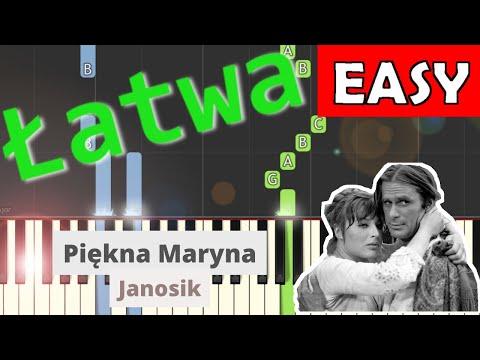🎹 Piękna Maryna (Janosik) - Piano Tutorial (łatwa wersja) 🎹