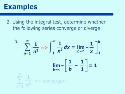 Series Tests for Convergence