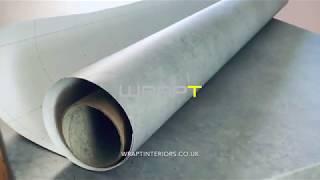 Concrete Effect Table Vinyl Wrap by WRAPT Interiors