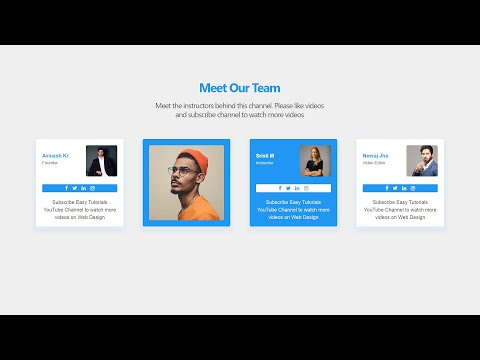 How To Make A Team Section On website Using HTML And CSS | Website Design Tutorial