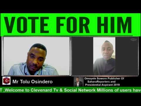Omoyele Sowore Publisher Of SaharaReporters and  Presidential Aspirant 2019