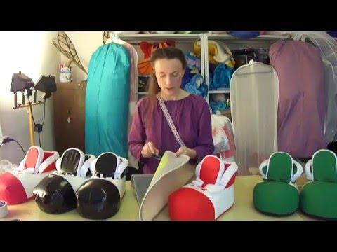 Изготовление поролоновой маски Девушка