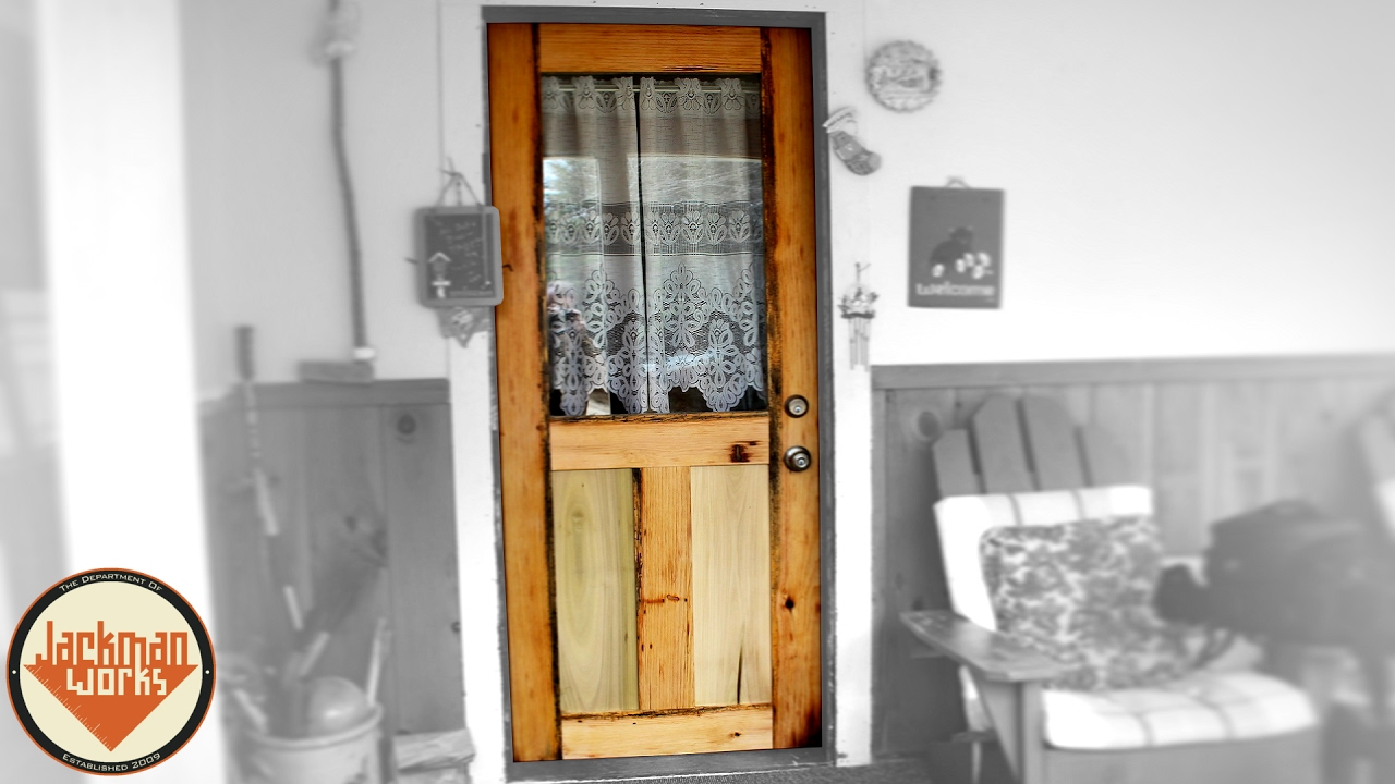 How to Build a Door from Scratch (Mission Style) - YouTube