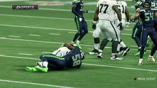 Madden NFL 20 Mock Preseason - Raiders vs Seahawks