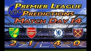 Premier League Predictions: Round 14 | Norwich To Beat The Arsenal?