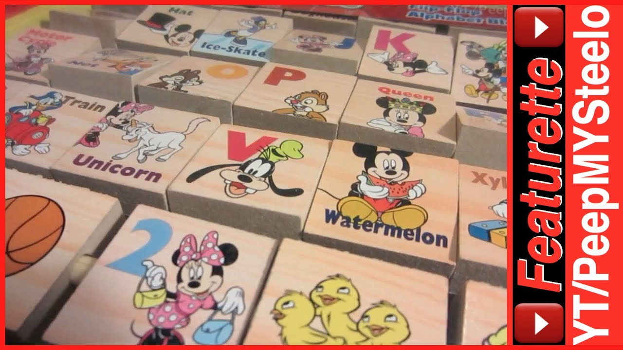 Disney Mickey Mouse Clubhouse Toys Alphabet Wood Blocks Educational ...
