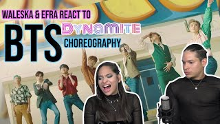 Gambar cover Waleska & Efra react to BTS (방탄소년단) 'Dynamite' Official MV (Choreography ver.)| REACTION 💜✨