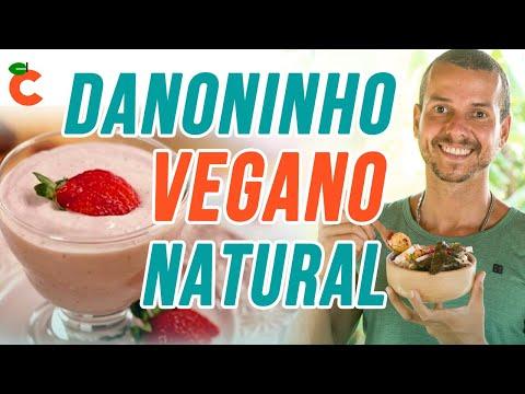 Danoninho caseiro vegano natural sem açúcar ou lactose probiótico e prébiótico