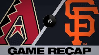 5/26/19: Marte homers to help D-backs sweep Giants
