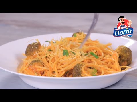 Spaghetti Doria sin gluten con Quinua y chía,